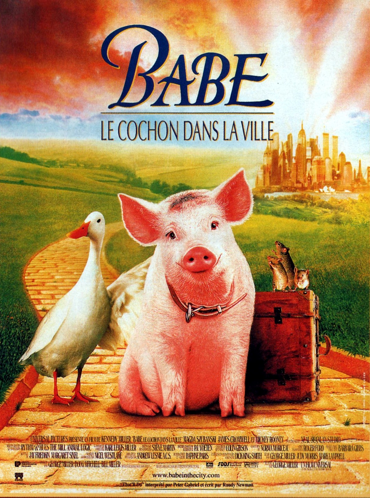 Babe le cochon dans la ville la critique - Papa cochon a la piscine ...