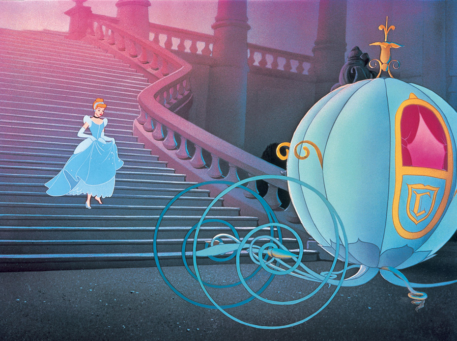 Cendrillon - la critique + le test blu-ray Cinderella Running Away From The Ball