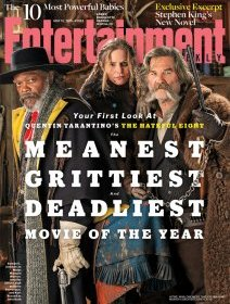 The Hateful Eight : Kurt Russel, Samuel L. Jackson & Jennifer Jason Leigh en photo