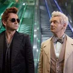 Crowley (D. Tennant) et Aziraphale (M. Sheen)