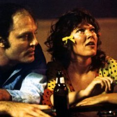 Stacy Keach & Susan Tyrrell at the bar