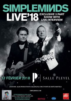 Simple Minds Live'18 à la Salle Pleyel : still Alive & Kicking